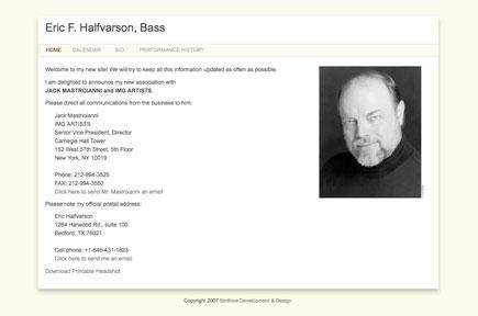 Screenshot: erichalfvarson.com