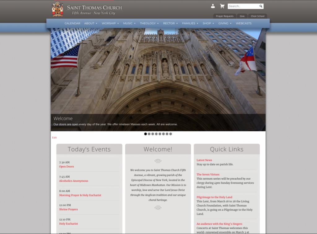 SaintThomasChurch.org Homepage